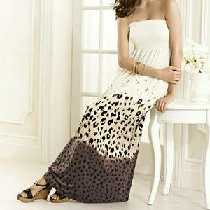 Soma Intimates Maxi Dress Animal Print